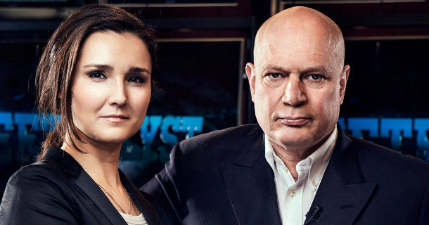 Jenny Gourman-Strid och Robert Aschberg i Efterlyst i TV3 Play