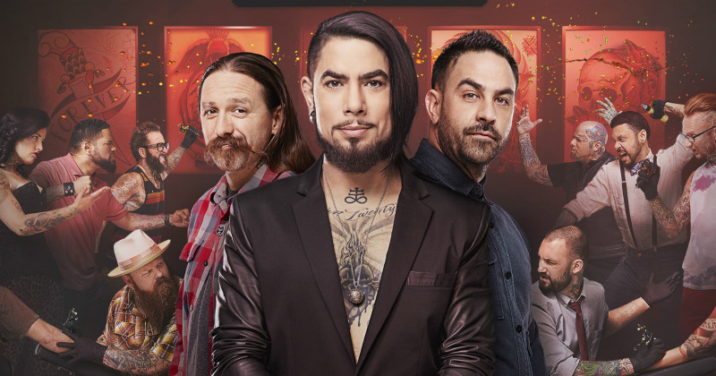 Dave Navarro, Oliver Peck och Chris Nunéz i Ink Master Usa i TV6 Play