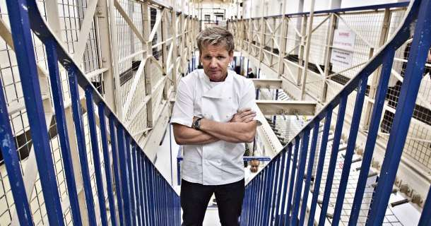 "Gordon Ramsay i tv-serien ""Gordon Behind Bars"" i TV3 Play"