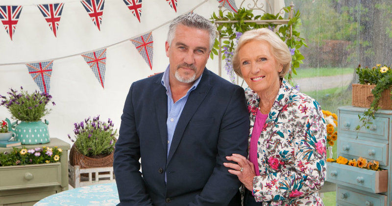 "Mary Berry och Paul Hollywood i ""Hela England bakar"" i SVT Play"