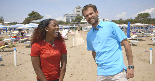 "Shelly-Ann Fraser-Pryce och Stefan Holm i serien ""Holm vs ..."" i TV4 Play"
