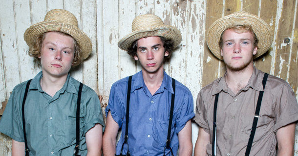 "James, Jordan och George i ""Leva som amish! i SVT Play"