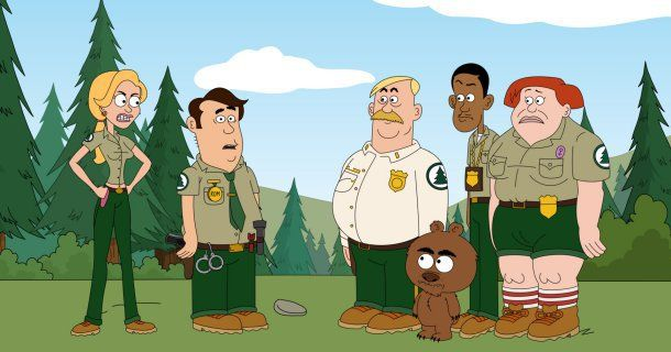 Skogsvaktare i animerade serien Brickleberry i TV6 Play