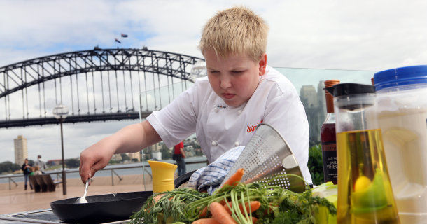 "Ung kock i ""Junior Masterchef Australia"" i TV3 Play"