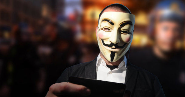 "Anonym hackare i dokumentären ""We are Legion: The Story of the Hacktivists"" i UR Play"