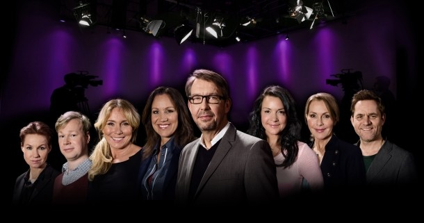 "Svenska tv-profiler i tv-serien ""Programmen som förändrade TV"" i UR Play"