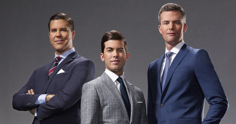 "Fredrik Eklund med mäklarkollegor i ""Million Dollar Listing New York"" i TV3 Play"