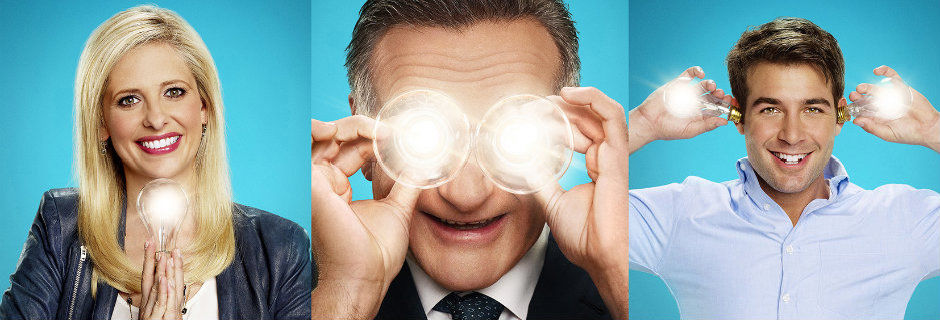 "Robin Williams med kollegor i komediserien ""The Crazy Ones"" i TV3 Play"