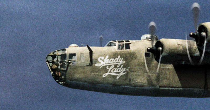 "Stridsflygplan av typ B-24 Liberator i dokumentären ""The Shady Lady"" i TV10 Play"