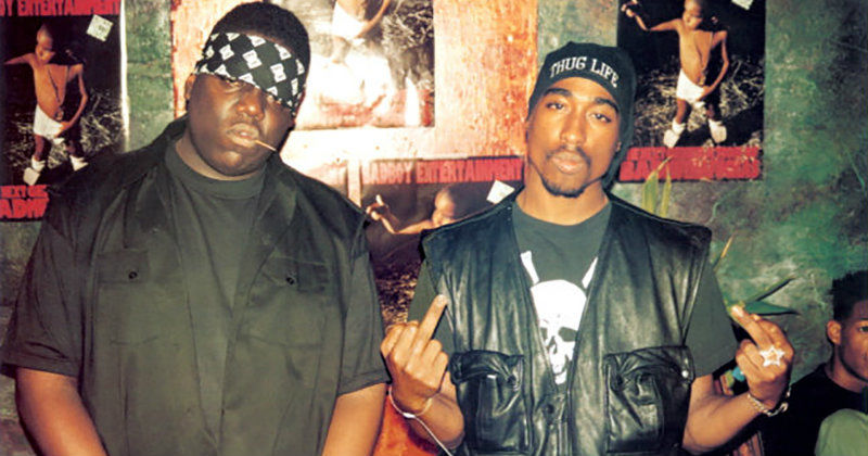 "Biggie och Tupac i dokumentären ""Biggie and Tupac"" i UR Play"
