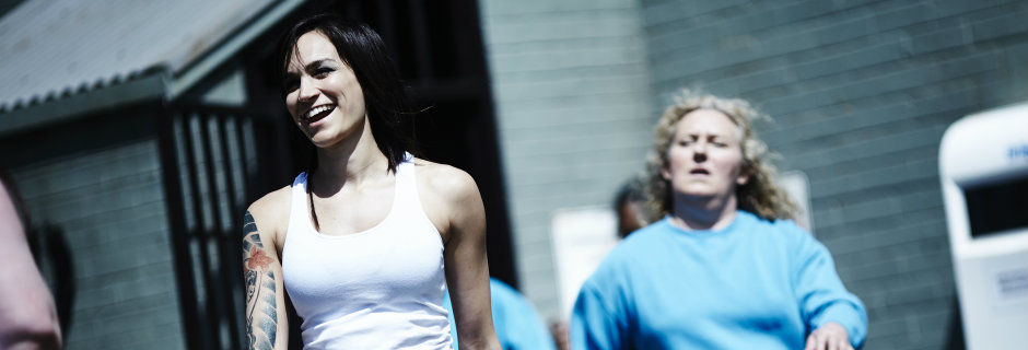 Huvudperson i tv-serien Wentworth i TV4 Play