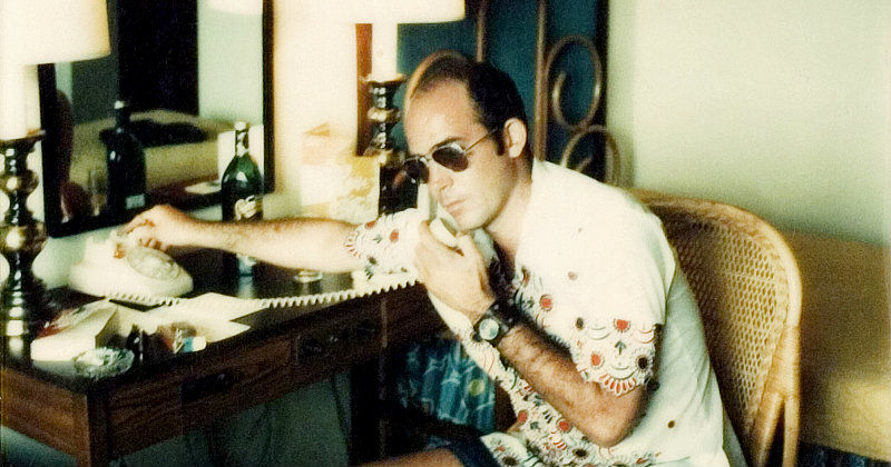 Hunter S Thompson i dokumentären Gonzo: The Life and Works of Dr. Hunter S. Thompson i UR Play