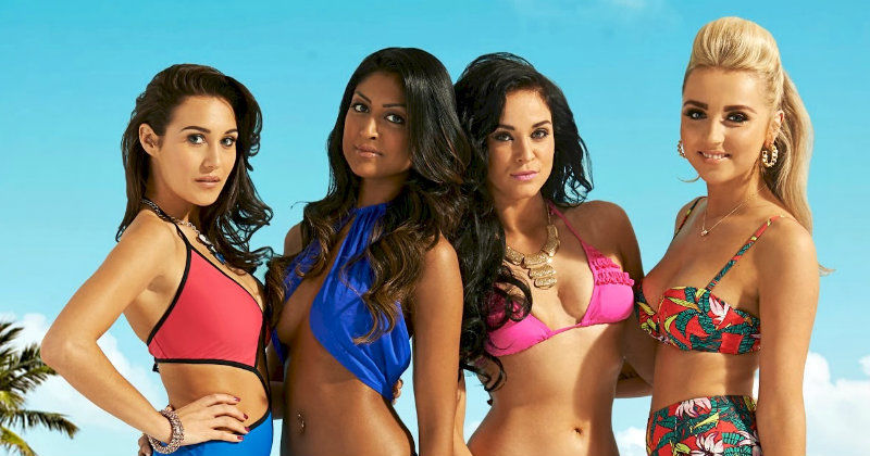 "Singeltjejer i realityserien ""Ex on the Beach"" i TV3 Play"