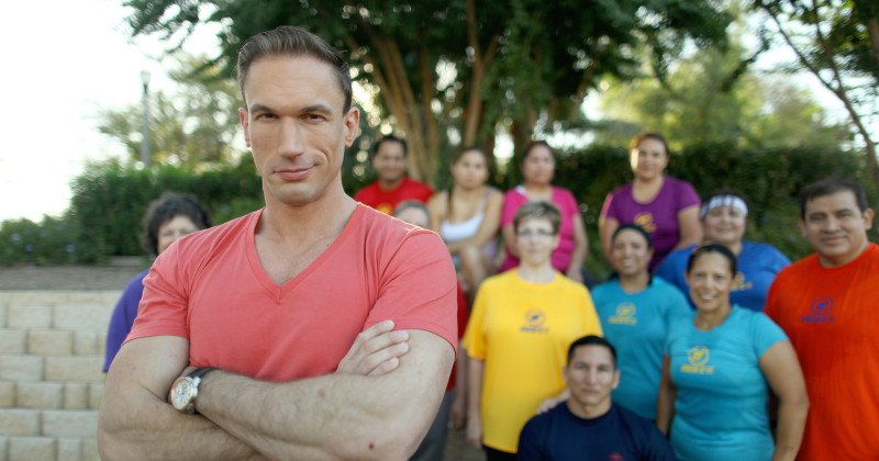 "Doktor Christian Jessen med deltagare i ""Supersize vs Superskinny"" i TV3 Play"