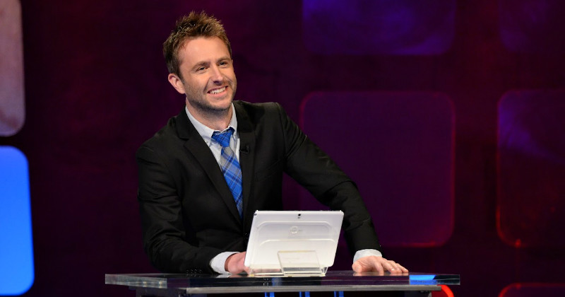 Chris Hardwick i humorshowen Midnight i TV3 Play
