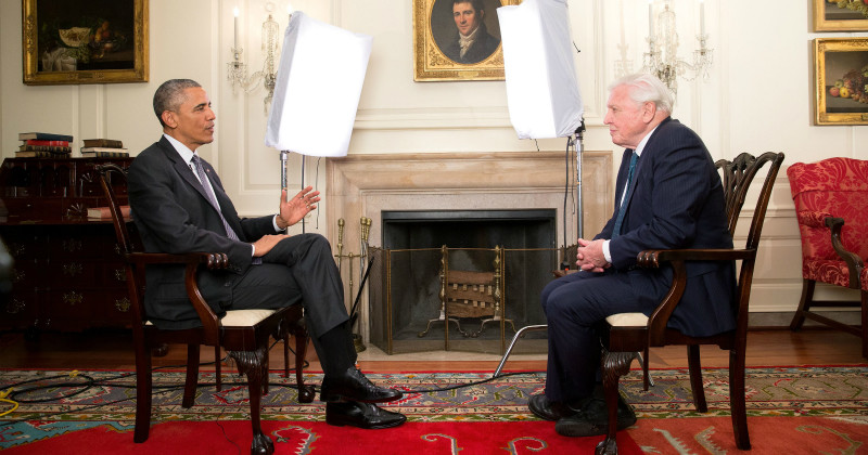 Barack Obama möter David Attenborough i SVT Play