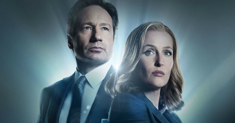 "Fox Mulder och Dana Scully i serien ""X-files"" i TV3 Play"