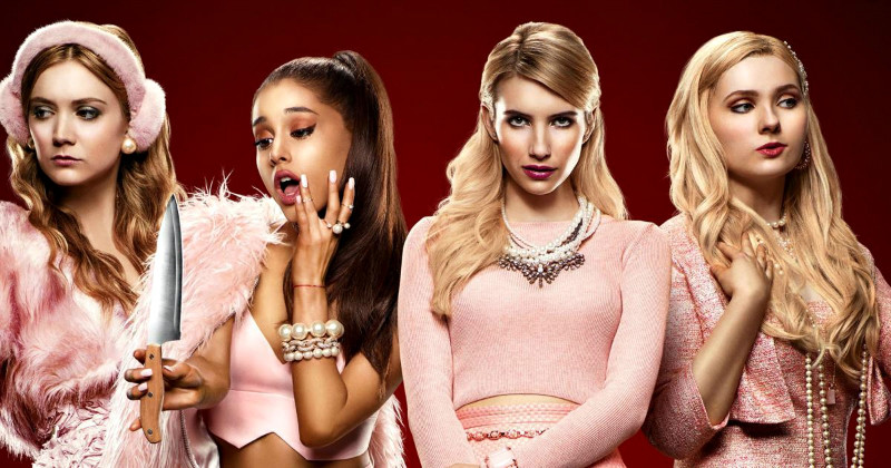 "Tjejer i skräckkomediserien ""Scream Queens"" i TV6 Play"