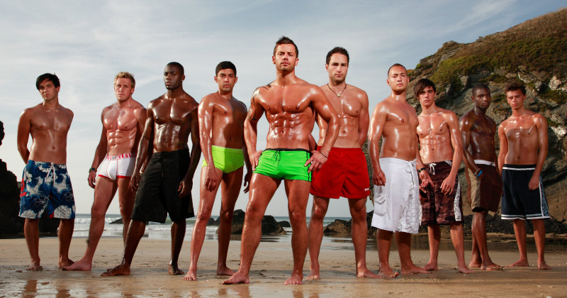 "Brittiska hunkar i realityserien ""The Hunks"" i TV3 Play"