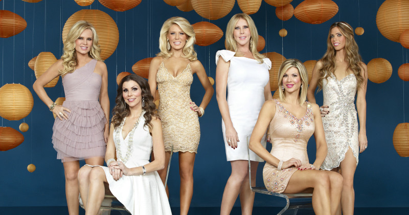 "Medverkande hemmafruar i realityserien ""The Real Housewives of Orange County"" i TV3 Play"