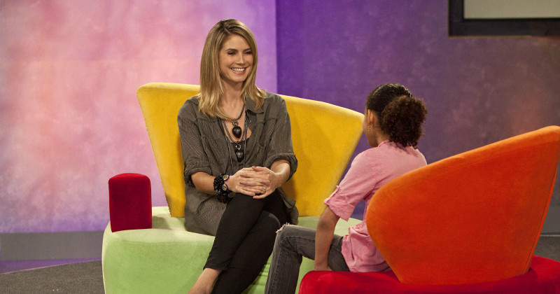 Supermodellen Heidi Klum i Seriously Funny Kids i TV4 Play