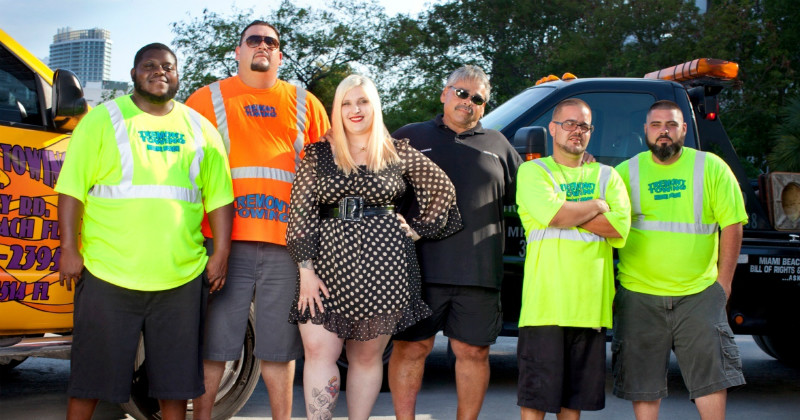 "Medverkande i realityserien ""South Beach Tow"" i TV4 Play"
