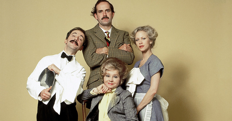 Andrew Sachs, John Cleese, Connie Booth och Prunella Scales