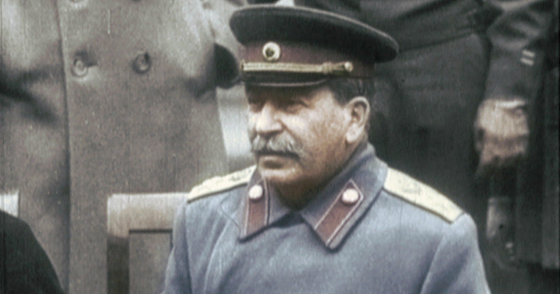 Stalin i dokumentären Stalin i färg i TV4 Play