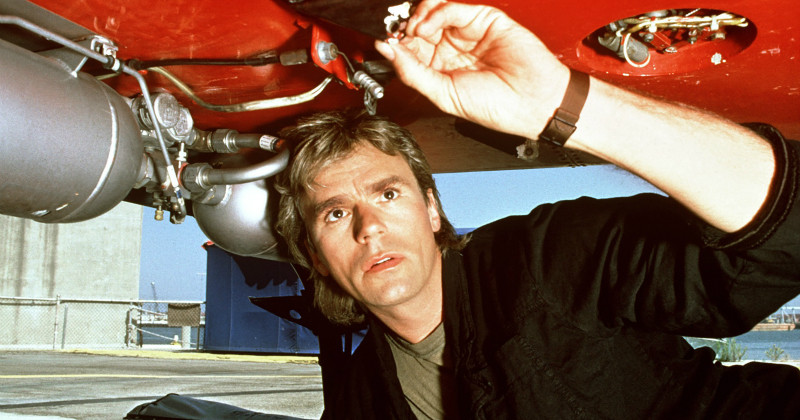 Richard Dean Anderson i MacGyver i TV4 Play