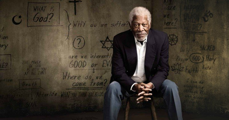 "Morgan Freeman i ""Morgan Freeman: Jakten på gud"" i SVT Play"